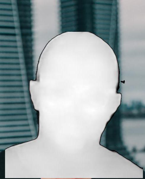 Facial depth estimation example