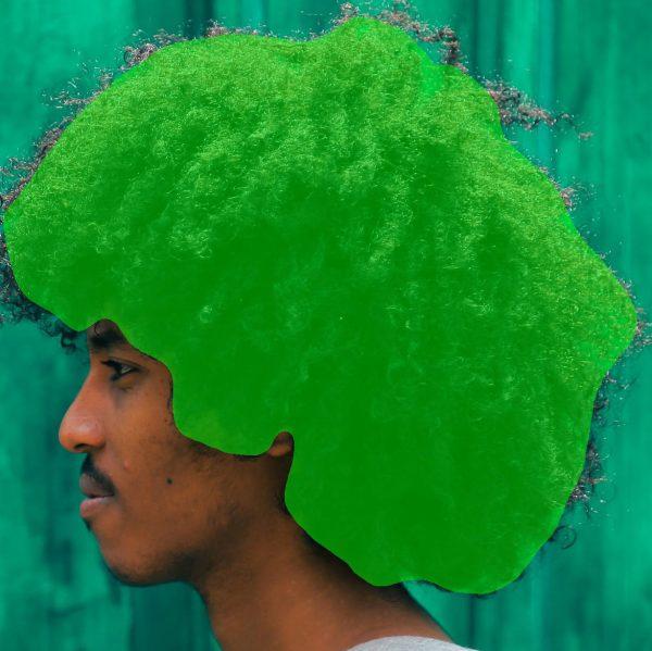 Hair matting example